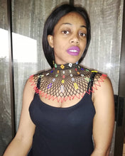Load image into Gallery viewer, Zulu beaded O-necklace and shoulder drape