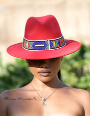 HouseOfSarah14 Beaded Fedora Hat