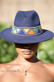 Zulu Beaded Fedora Hat