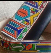 Ndebele beaded Clutch, Embellished bag