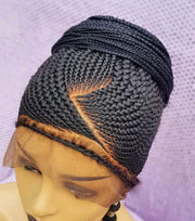 Braided Wig, cornrow wig 16 inches inches. Braidwig, Braidswig. Full lace wig