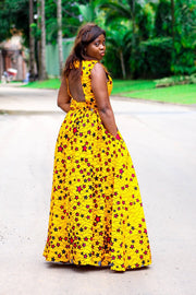 Nath Yellow Maxi Dress