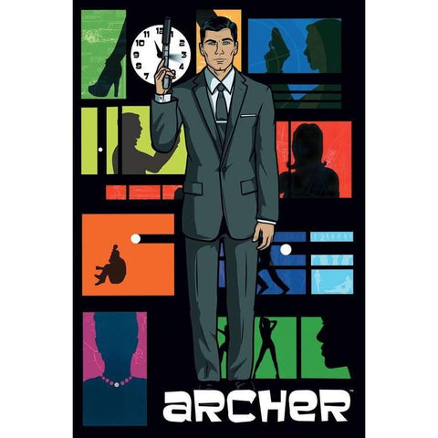 Archer Title Shot FX Poster-Poster-Posters Wholesale-A2Depot
