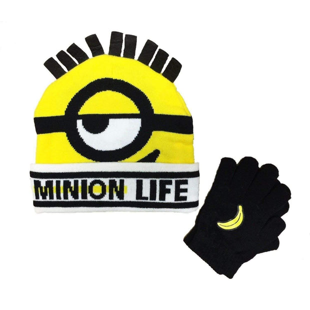 Despicable Me Minion Life Beanie and Glove Set-Beanies-Despicable Me-A2Depot
