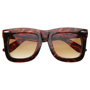 Open image in slideshow, Oversize Designer Fashion Thick Horned Rim Sunglasses 8094 - A2Depot