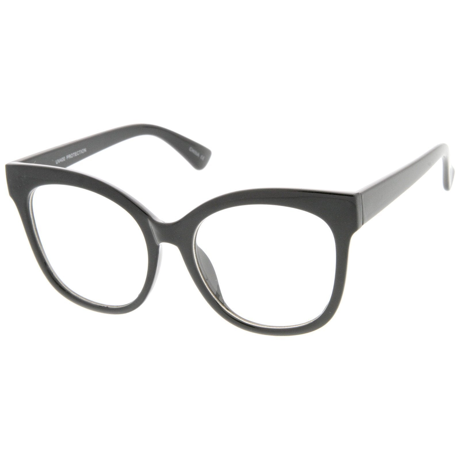 Oversize Retro Clear Lens Glasses A835 - A2Depot