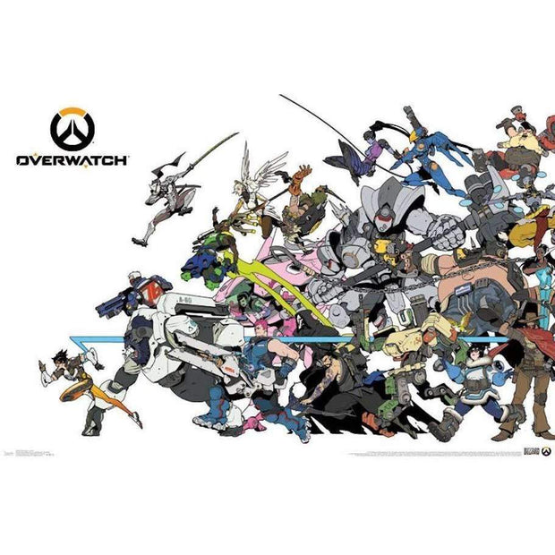 Overwatch Battle Poster - A2Depot