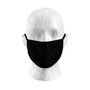 Plain Black Reusable Adult PPE Face Mask - A2Depot