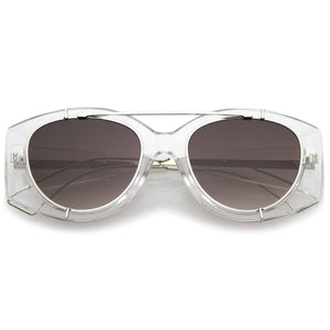 Open image in slideshow, Retro Modern Translucent Round Aviator Sunglasses C328 - A2Depot