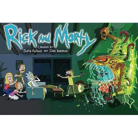 Rick and Morty Family Room Portal Poster - A2Depot