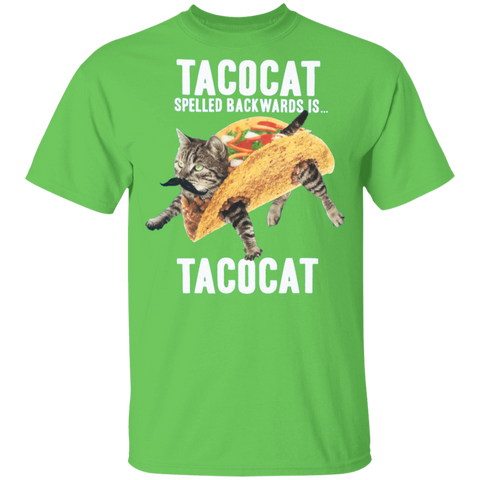 Tacocat Spelled Backwards Kids Tee