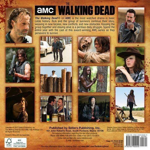 The Walking Dead TWD 2018 Mini Wall Calendar - A2Depot