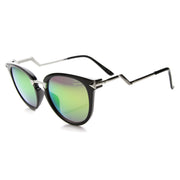 Trendy Flash Mirror Lens Lightning Temple Sunglasses 9834 - A2Depot