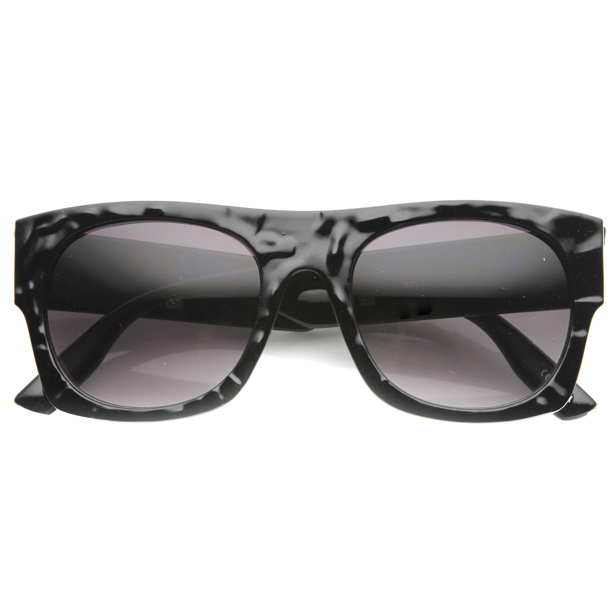 Unique Flat Top Textured Sunglasses 9865 - A2Depot