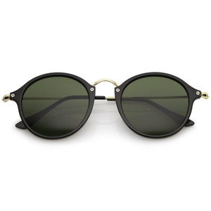 Open image in slideshow, Vintage Dapper Horned Rim Round Sunglasses A195 - A2Depot