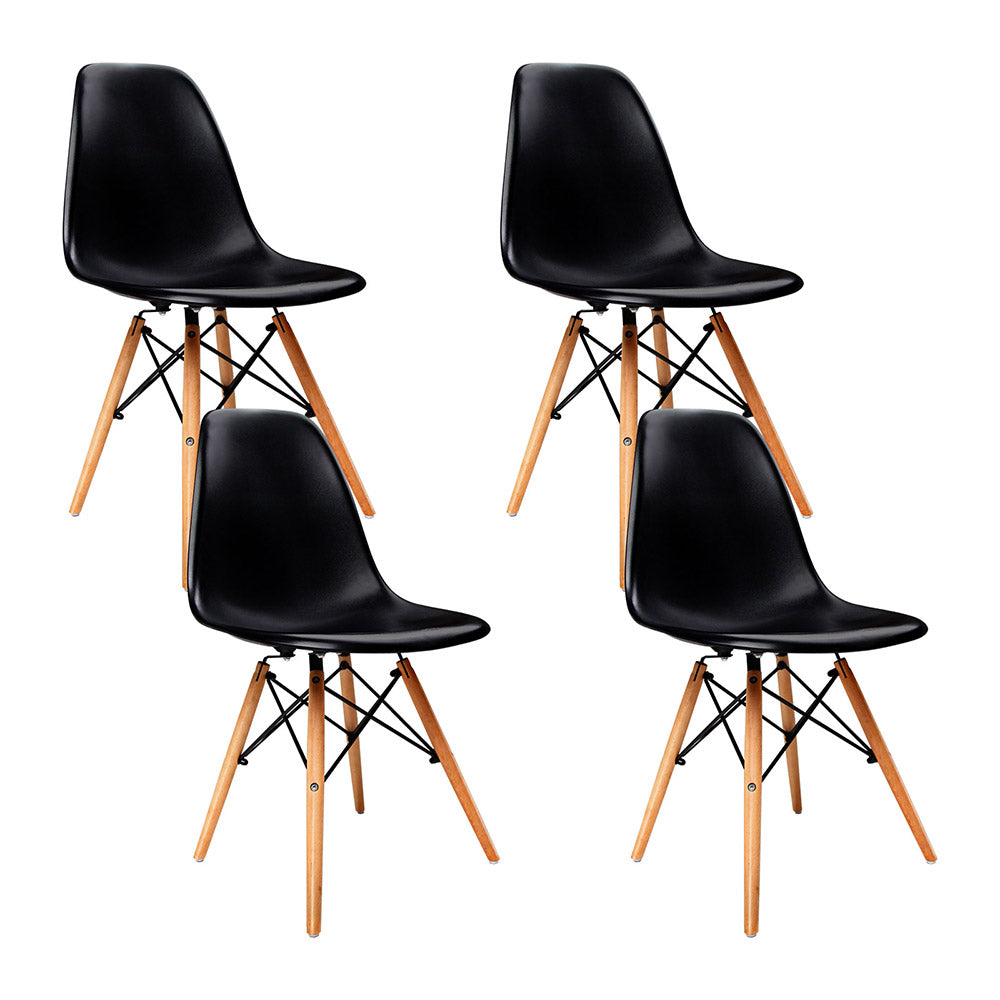 Set of 4 Replica Eames Eiffel Dining Chairs BlackSet of 4 Replica Eames Eiffel Dining Chairs Black   NextFurniture. Set Of 4 Replica Eames Eiffel Dsw Dining Chair White. Home Design Ideas