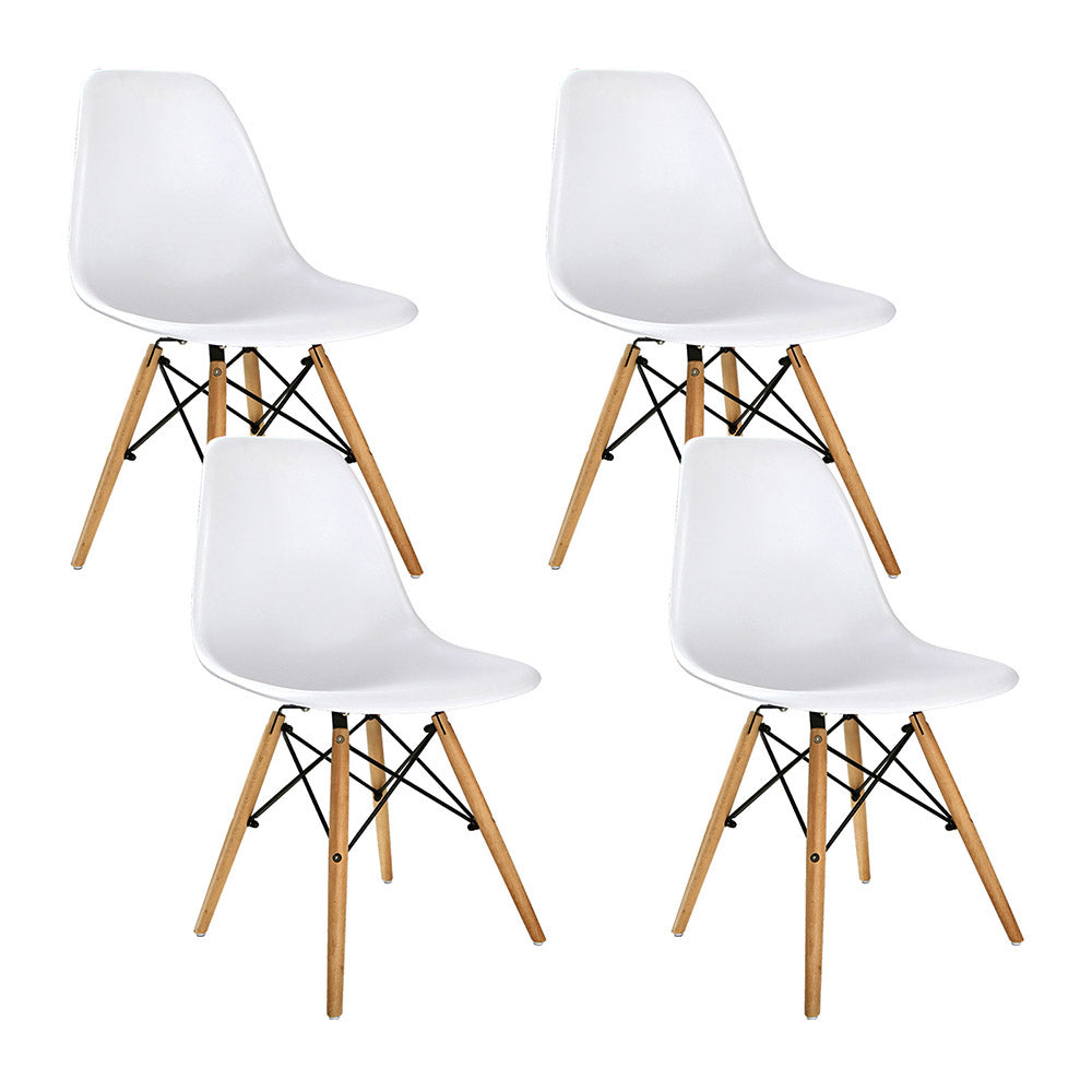 Home Dining Room Set Of 4 Replica Eames Eiffel Dining Chairs White