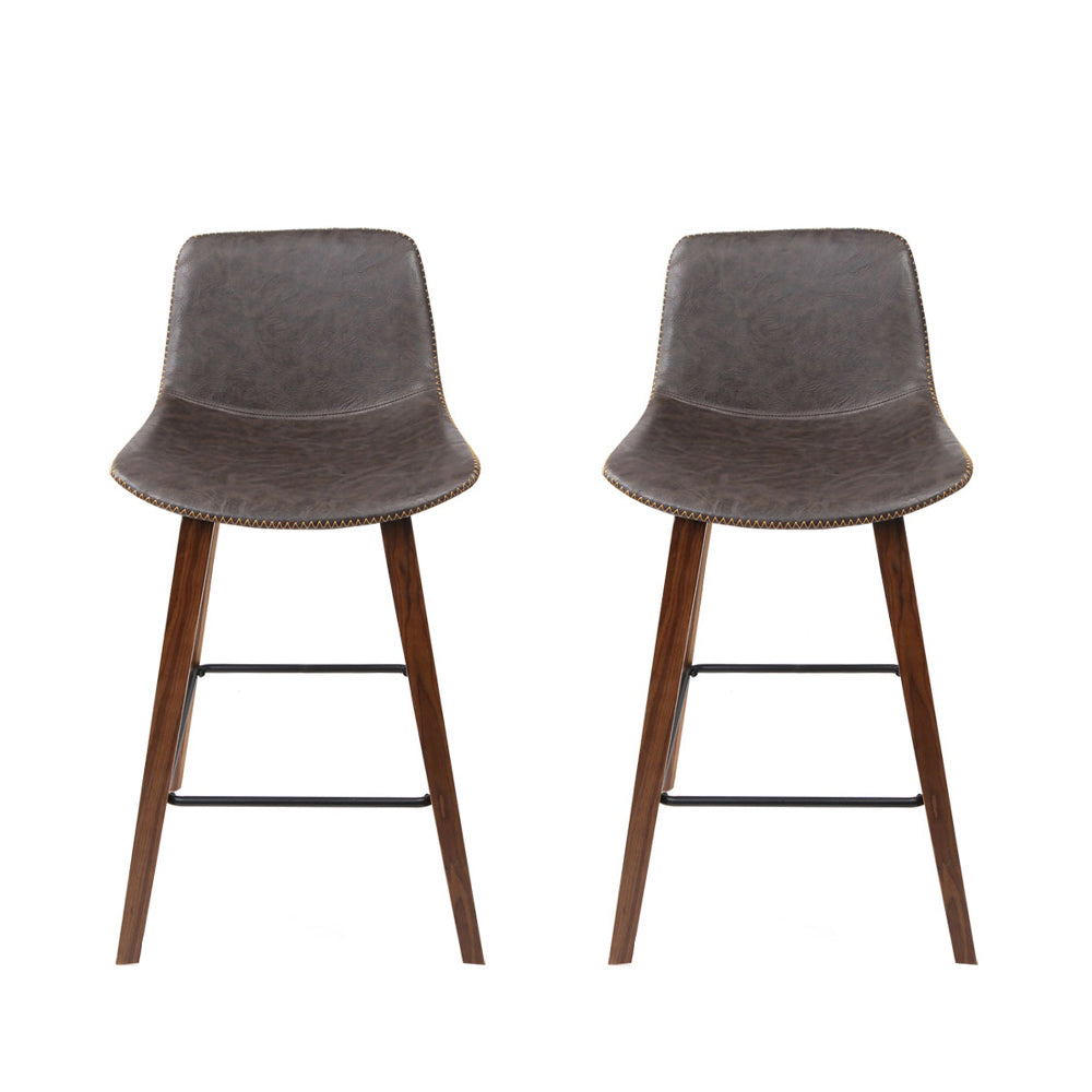 Set of 2 Wooden Bar Stool-Furniture, Bar Stools & Chairs-NextFurniture