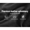 PU Leather Bed Frame Queen Black