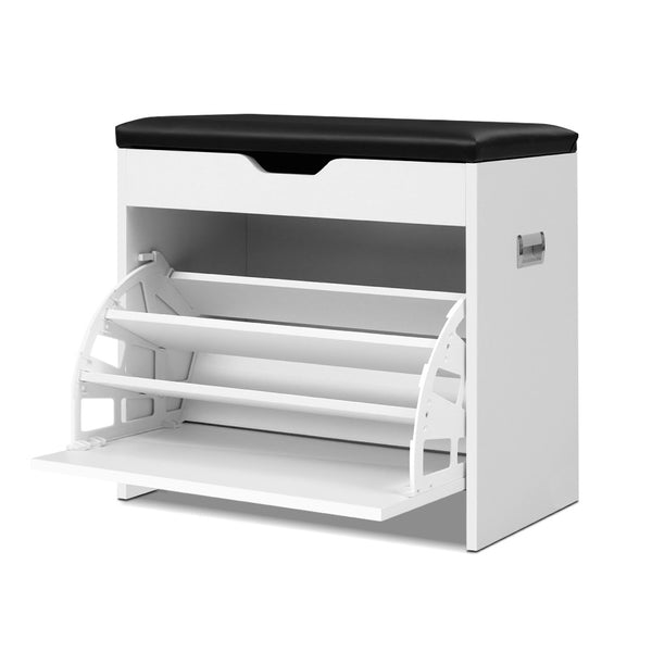 Artiss Adjustable 3 Tier Storage Cupboard - White