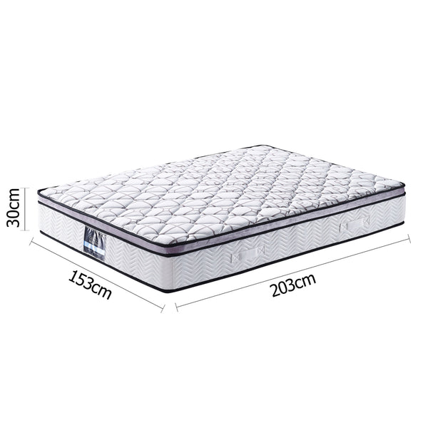 Giselle Cool Gel Memory Foam Euro Top Mattress - Queen - Furniture Mattresses