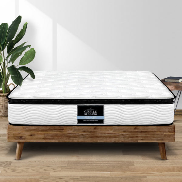 Giselle Bedding Alban Pillow Top Pocket Spring Mattress 28cm Thick – Queen