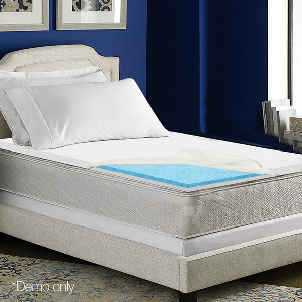 Giselle Bedding Single Size Dual Layer Cool Gel Memory Foam Topper