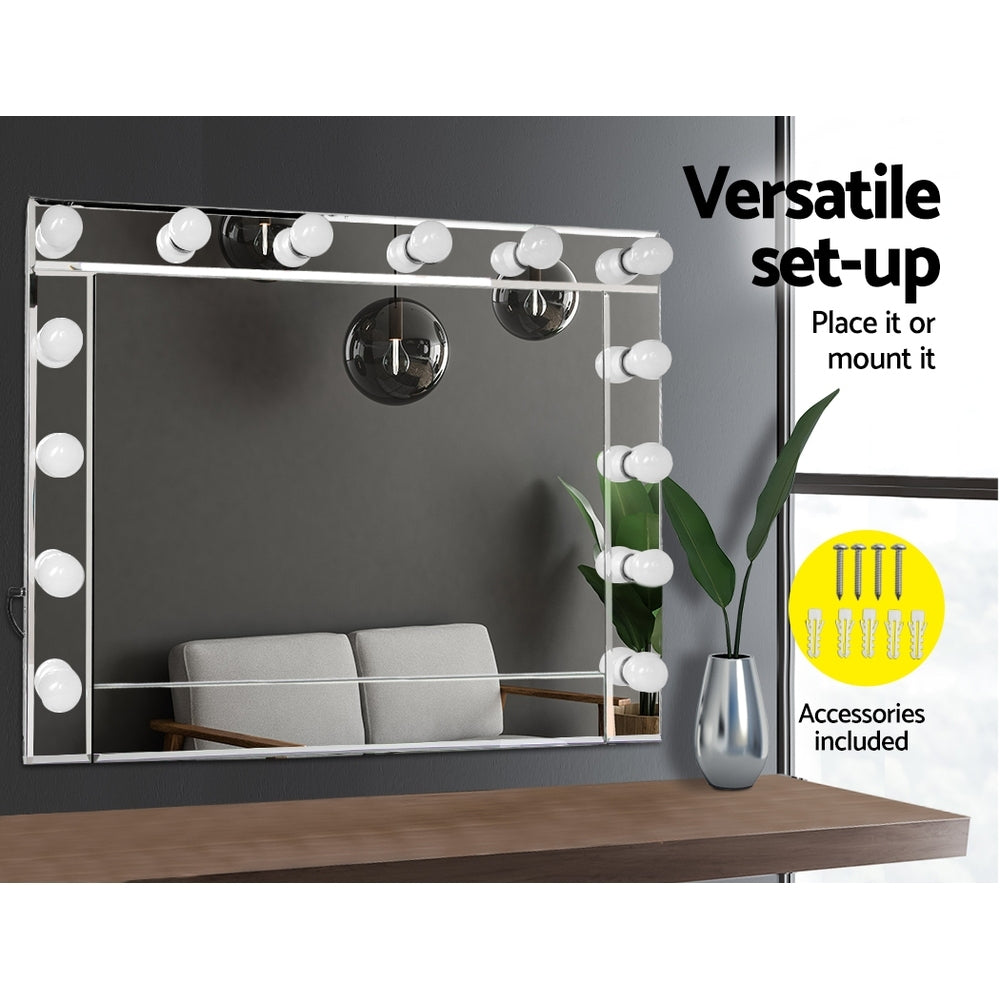 Make up mirror frame with led lights 65x80cm nextfurniture for Mirror with lights