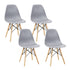 Artiss Set of 4 Retro Dining DSW Chairs Kitchen Cafe Beech Wood Legs Grey