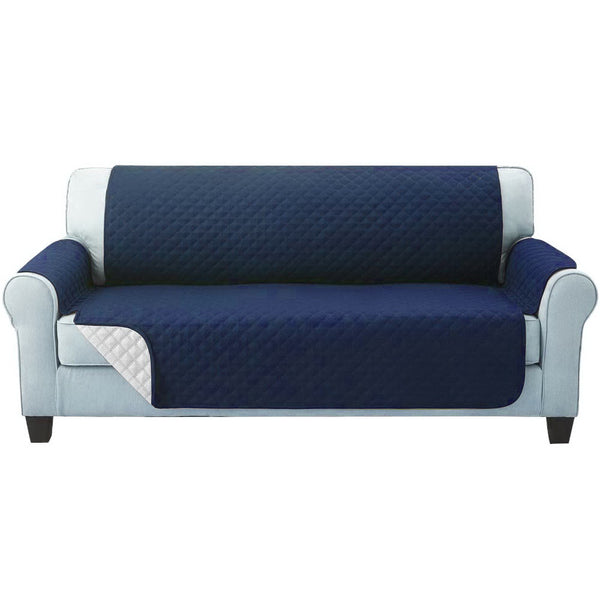 Artiss Sofa Cover Quilted Couch Covers Lounge Protector Slipcovers 3 Seater Navy