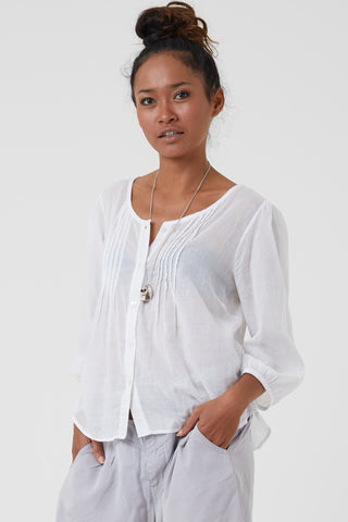 Organic clothing Australia - white cotton shirt by Donnah