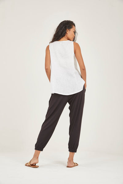Genie Black Ankle Jersey Pant