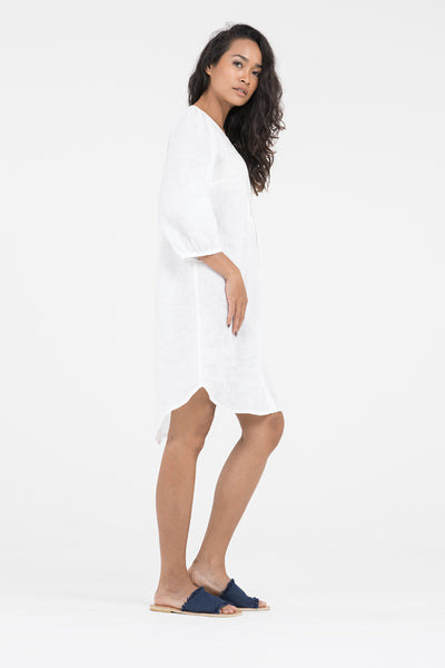 Isla Linen Shirt Dress