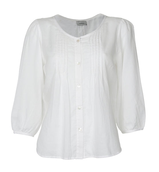 Cotton white pintuck shirt