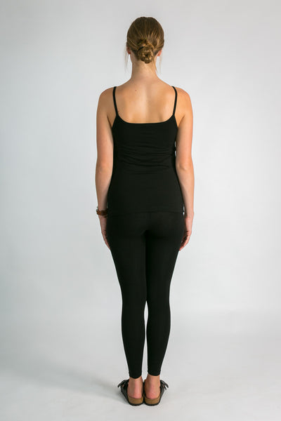 Black bamboo leggings