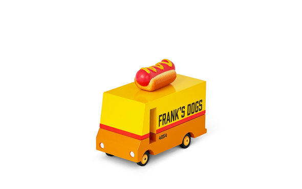 Food Truck Hot Dog Van Candyvans aus Holz