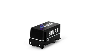 S.W.A.T.-Team-Transporter Holzauto von Candylab Toys