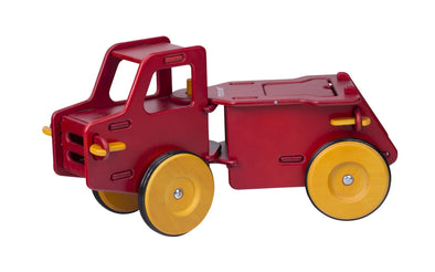Rotes Moover Toys Rutschauto aus Holz