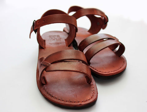 Leather Jesus sandals.