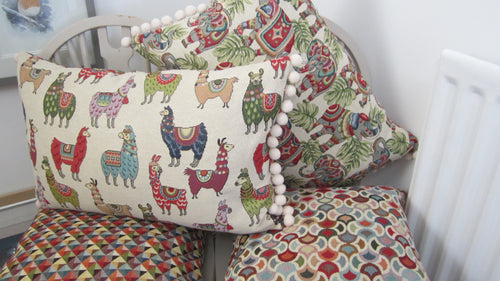 Tapestry style Long Llama Cushion