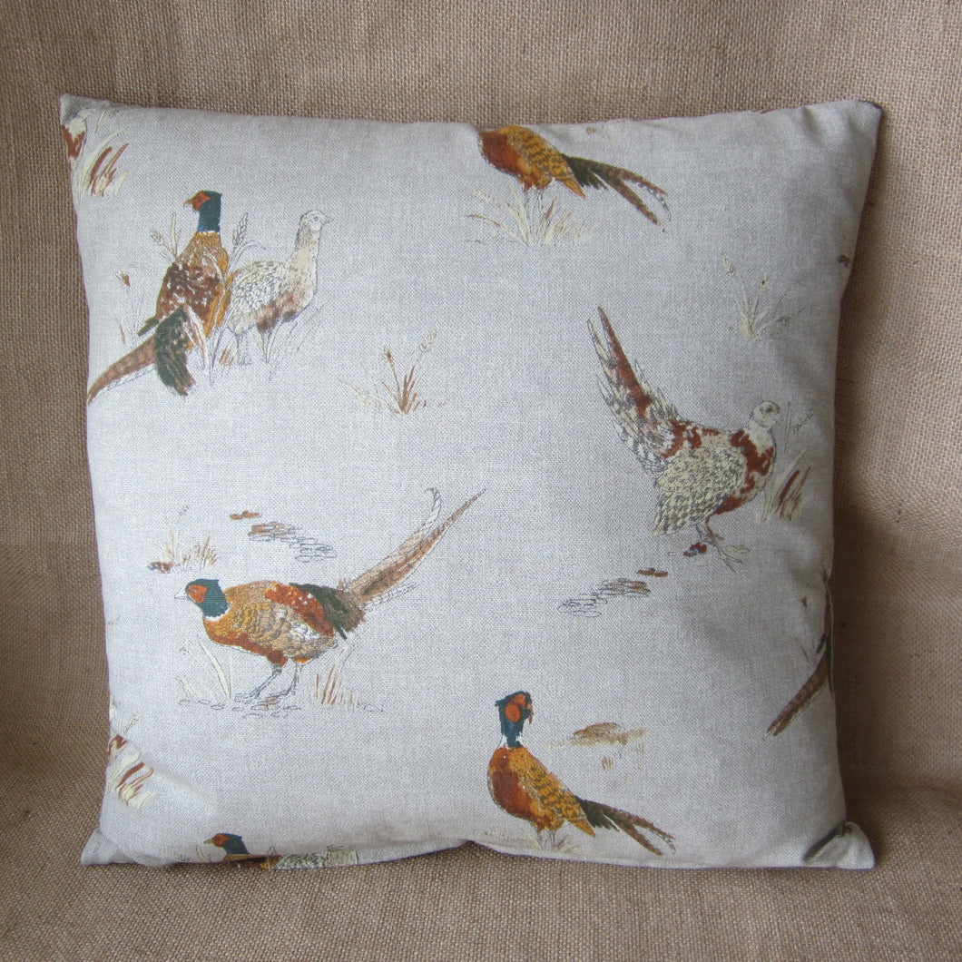 Pheasant Cotton Cushion
