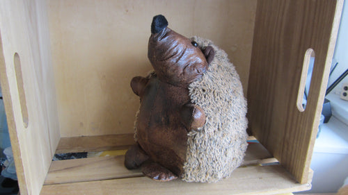 Adorable Hedgehog Faux Leather Doorstop