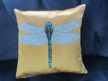 Velvet Dragonfly Cushion