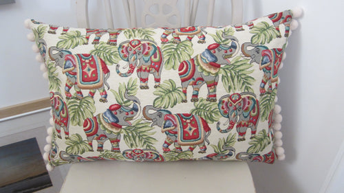 Tapestry style Long Elephant Cushion