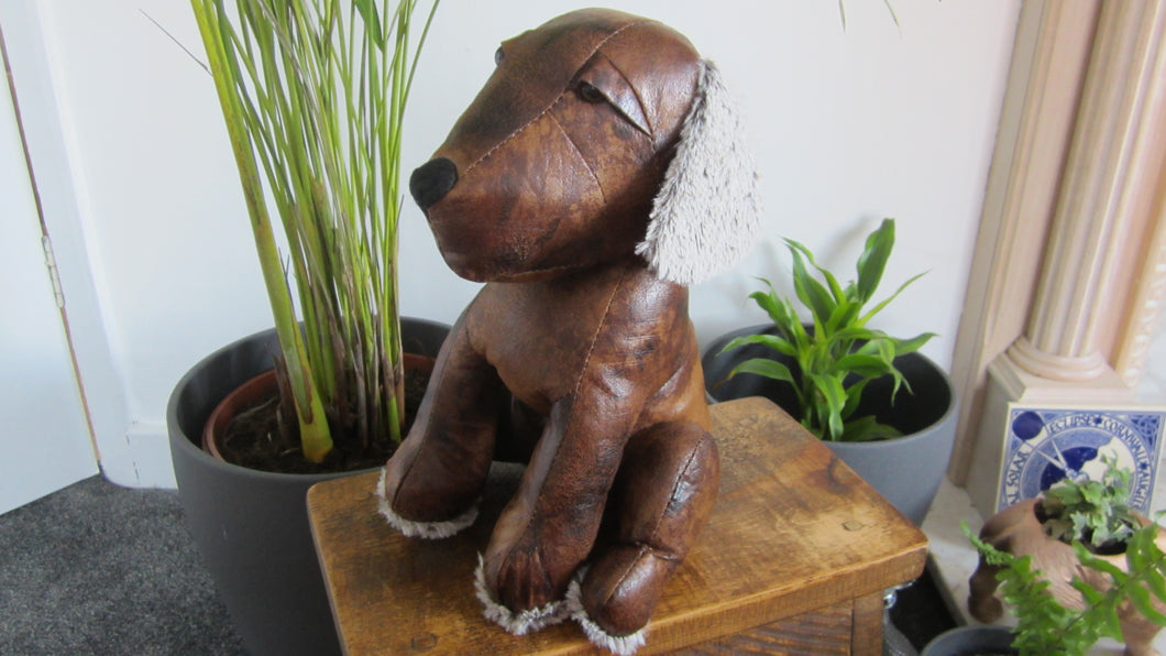 Monty the Mongrel Faux Leather Doorstop