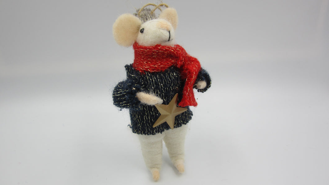 Christmas mouse with Star jumper