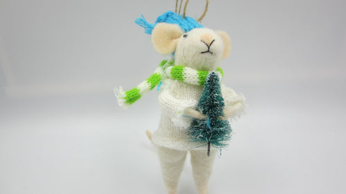 Christmas mouse with White jumper