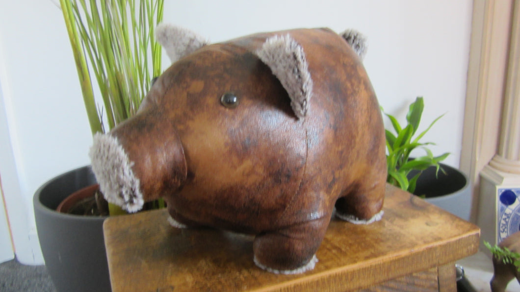 Presley the Pig Faux Leather Doorstop