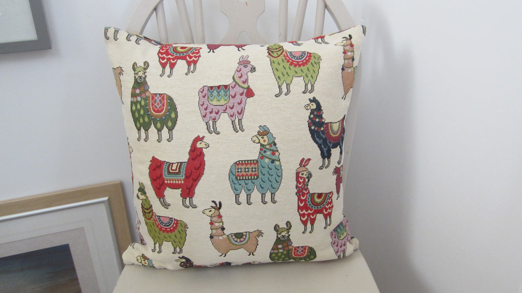 Tapestry style Llama Cushion Square