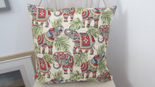 Tapestry style Elephant Cushion Square